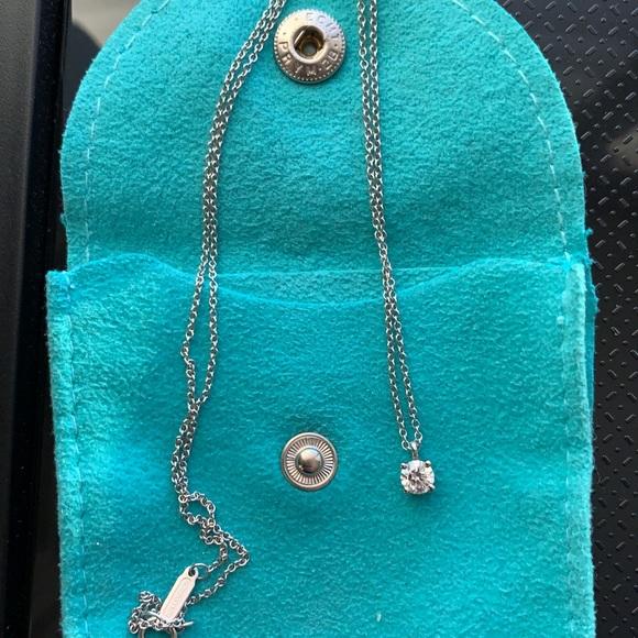 Tiffany Co Jewelry Tiffany Diamond Solitaire Necklace 027 Ct Poshmark